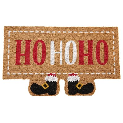 Sleigh Mates Santa Ho Ho Ho Welcome Holiday Doormat