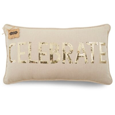 Celebrate Linen Lumbar Pillow