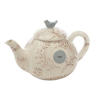 Hand-Painted Floral Branch Ceramic Teapot 4764000