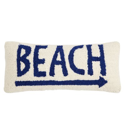 Nautical Beach Wool Lumbar Pillow