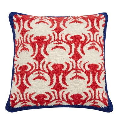 Crab Wool Throw Pillow