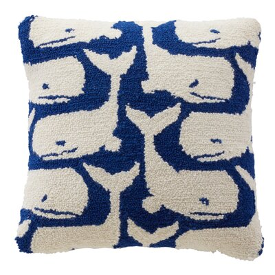 Whale Wool Throw Pillow