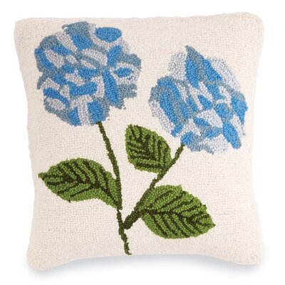 Hydrangea Wool Throw Pillow