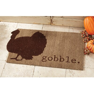 Gobble Thanksgiving Doormat