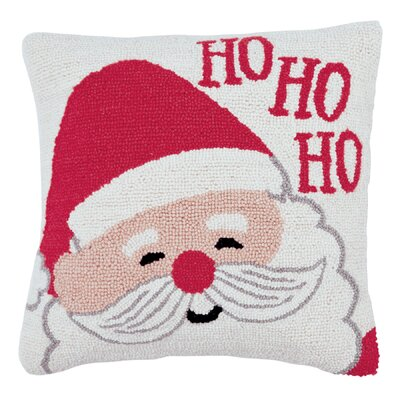 Santa Hooked Accent Throw Pillow