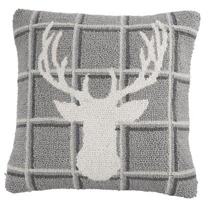 Deer Antler Hooked Accent Throw Pillow