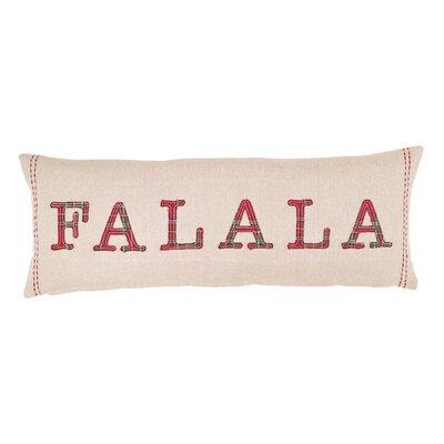 Tartan Applique Holiday Accent Lumbar Pillow