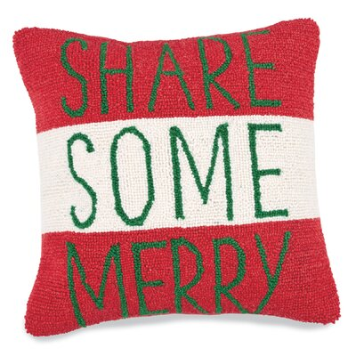 Share Some Merry Hooked Accent Throw Pillow