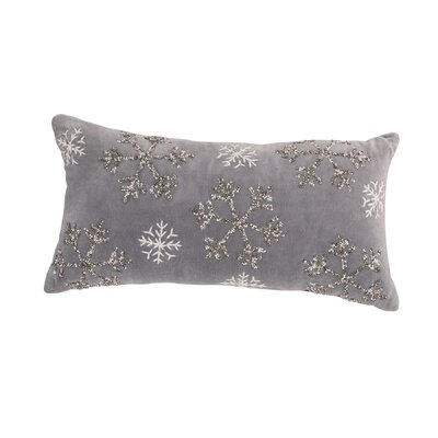 Winter Wonderland Beaded Lumbar Pillow
