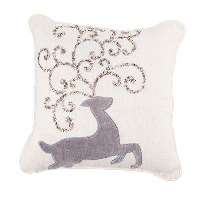 Winter Wonderland Beaded Throw Pillow