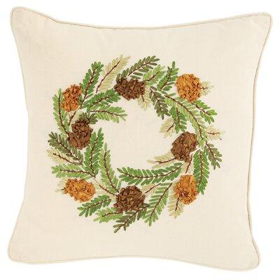 Pine Cone Wreath Throw Pillow