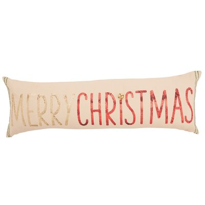 Merry Christmas Sequin Lumbar Pillow