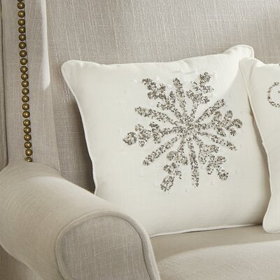 Winter Wonderland Beaded Throw Pillow