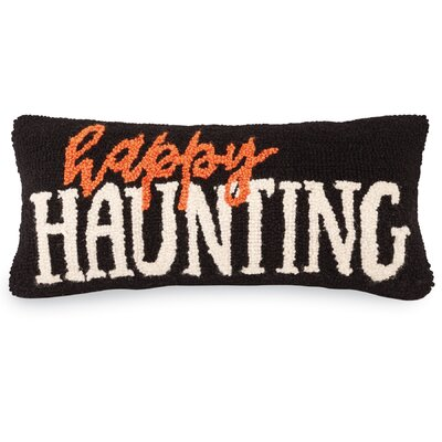 Halloween Happy Haunting Cotton Lumbar Pillow