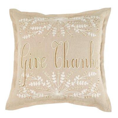 Give Thanks Cotton Throw Pillow