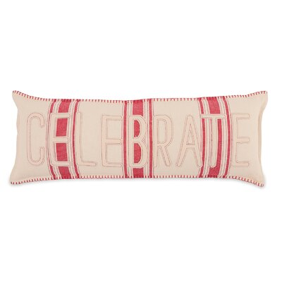 Celebrate Grain Sack Cotton Lumbar Pillow