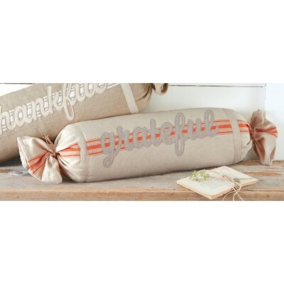 Grateful Grain Sack Cotton Bolster Pillow