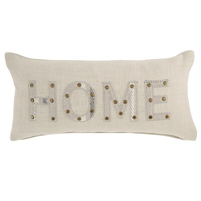 Applique Home Plaid Rustic Lodge Cotton Lumbar Pillow
