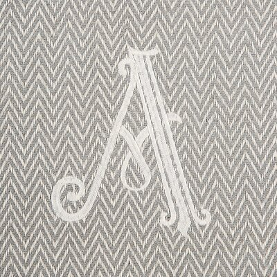 Herringbone Initial Throw Letter: A