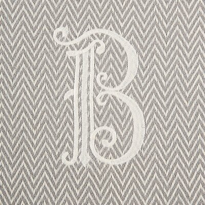Herringbone Initial Throw Letter: B
