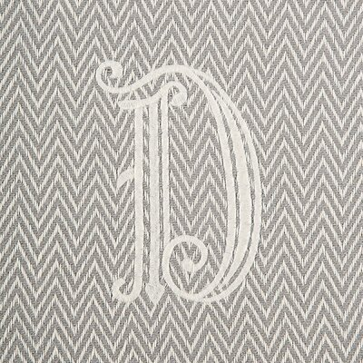 Herringbone Initial Throw Letter: D