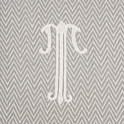 Herringbone Initial Throw Letter: T