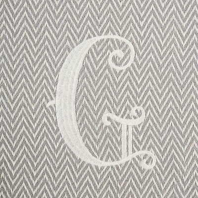 Herringbone Initial Throw Letter: G