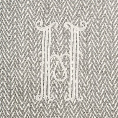 Herringbone Initial Throw Letter: H