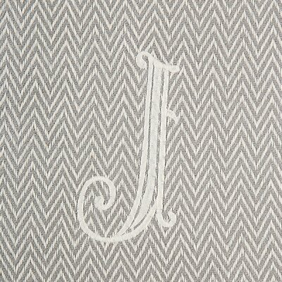 Herringbone Initial Throw Letter: J