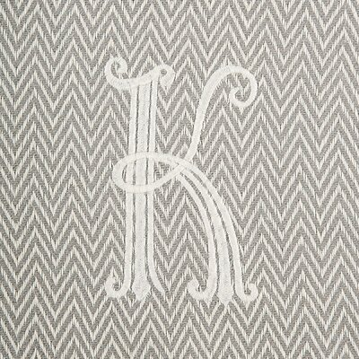 Herringbone Initial Throw Letter: K