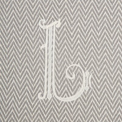 Herringbone Initial Throw Letter: L