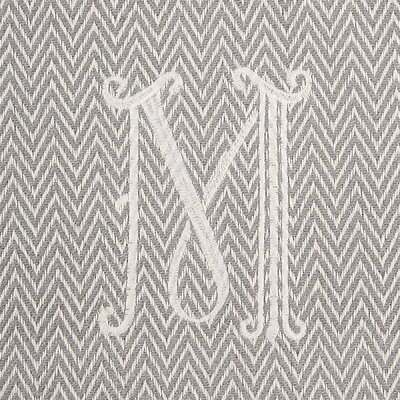 Herringbone Initial Throw Letter: M