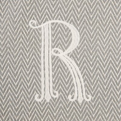 Herringbone Initial Throw Letter: R