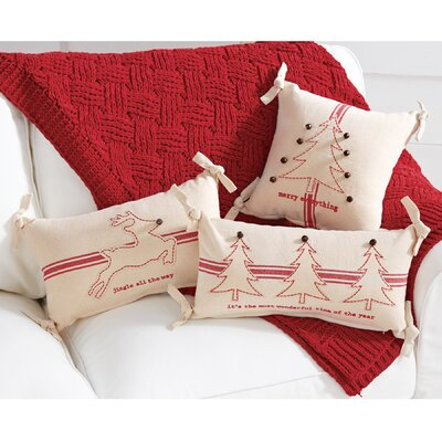 Grainsack Christmas Jingle Bell 100% Cotton Lumbar Pillow