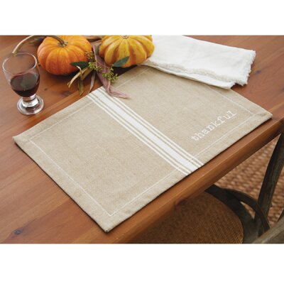 Grainsack Thankful Placemat (Set of 6) 4265410
