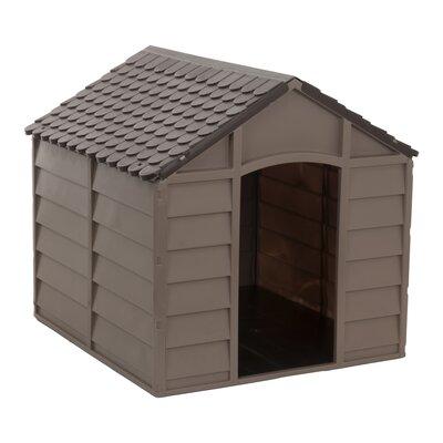 Dog House Size: 27 H x 27.9 W x 28 D, Color: Mocha/Brown