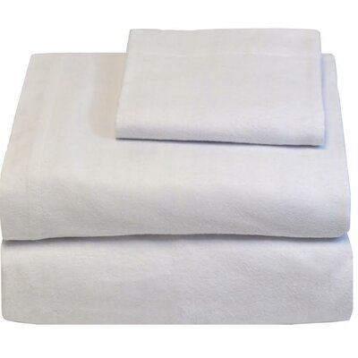 Super Soft 100% Cotton Flannel Sheet Set Size: Full, Color: White