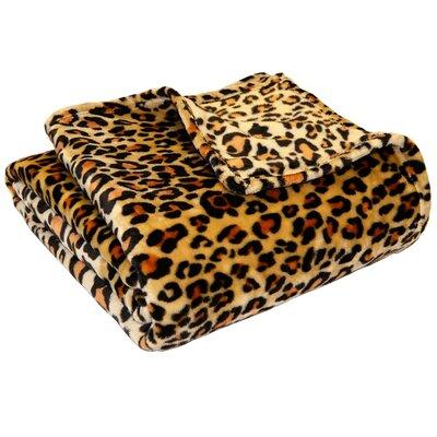 Leopard Polyester Blanket