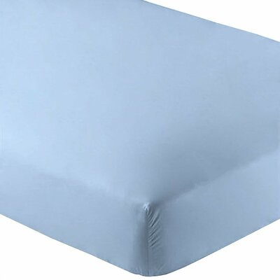 Premium Wrinkle Resistant Ultra Soft 2 Piece Fitted Sheet Set Color: Light Blue, Size: Queen