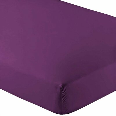 Premium Wrinkle Resistant Ultra Soft 2 Piece Fitted Sheet Set Color: Plum, Size: Twin XL