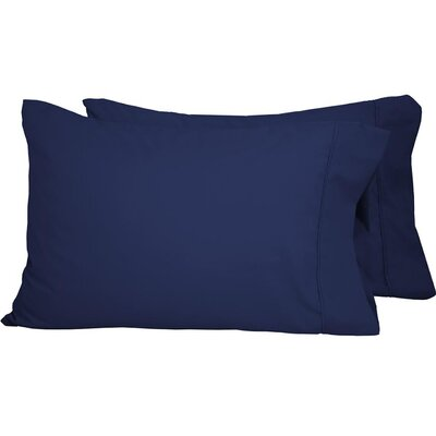 Premium Ultra-Soft Microfiber Solid Pillow Case Color: Dark Blue, Size: Standard