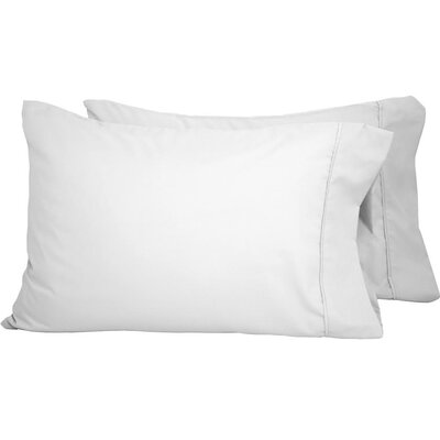 Shiflet Luxury Premium Ultra-Soft Pillow Case Size: King, Color: White