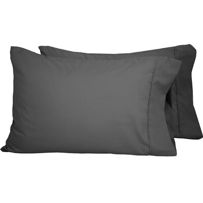 Luxury Premium Ultra-Soft Pillow Case Size: King, Color: Gray