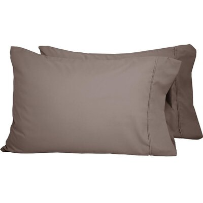 Premium Ultra-Soft Microfiber Solid Pillow Case Color: Taupe, Size: Standard
