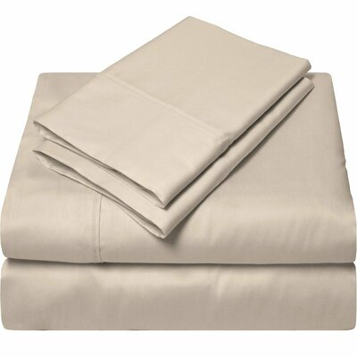 300 Thread Count Egyptian Quality Cotton Sheet Set Size: Full, Color: Sand