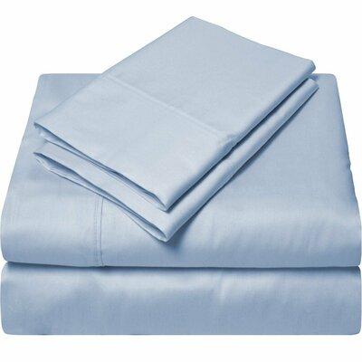 300 Thread Count Egyptian Quality Cotton Sheet Set Size: Full, Color: Light Blue