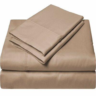 300 Thread Count Egyptian Quality Cotton Sheet Set Color: Taupe, Size: Split King
