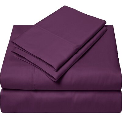 300 Thread Count Egyptian Quality Cotton Sheet Set Color: Plum, Size: Queen