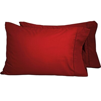 Shiflet Luxury Premium Ultra-Soft Pillow Case Size: Standard, Color: Red