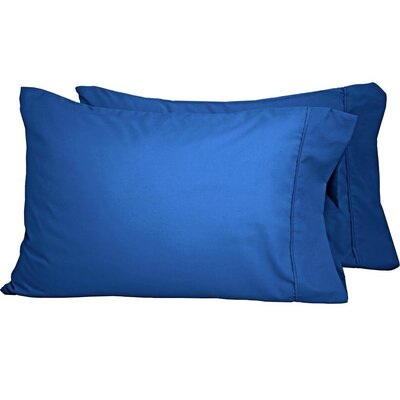 Premium Ultra-Soft Microfiber Solid Pillow Case Color: Medium Blue, Size: Standard